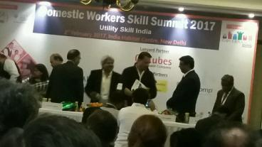 Eduworld attending the Domestic Workers Sector Skill Council Summit 2017 at location Indian Habitat Centre, New Delhi