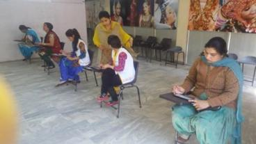 Assessment conducted by Eduworld under #PMKVY 2 #project for the #Beauty & Wellness sector at location Jalandhar.