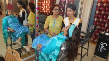 Assessment conducted by Eduworld under PMKVY 2 project for the Beauty Sector Skill Council at location Patiala