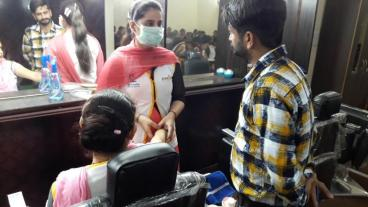 Assessment conducted by Eduworld under PMKVY 2 project for the Beauty Sector Skill Council at location Faridkot